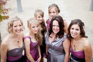 Bevy of beautiful bridesmaids