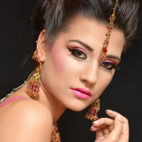 Pink and Gold Make up and Accessories