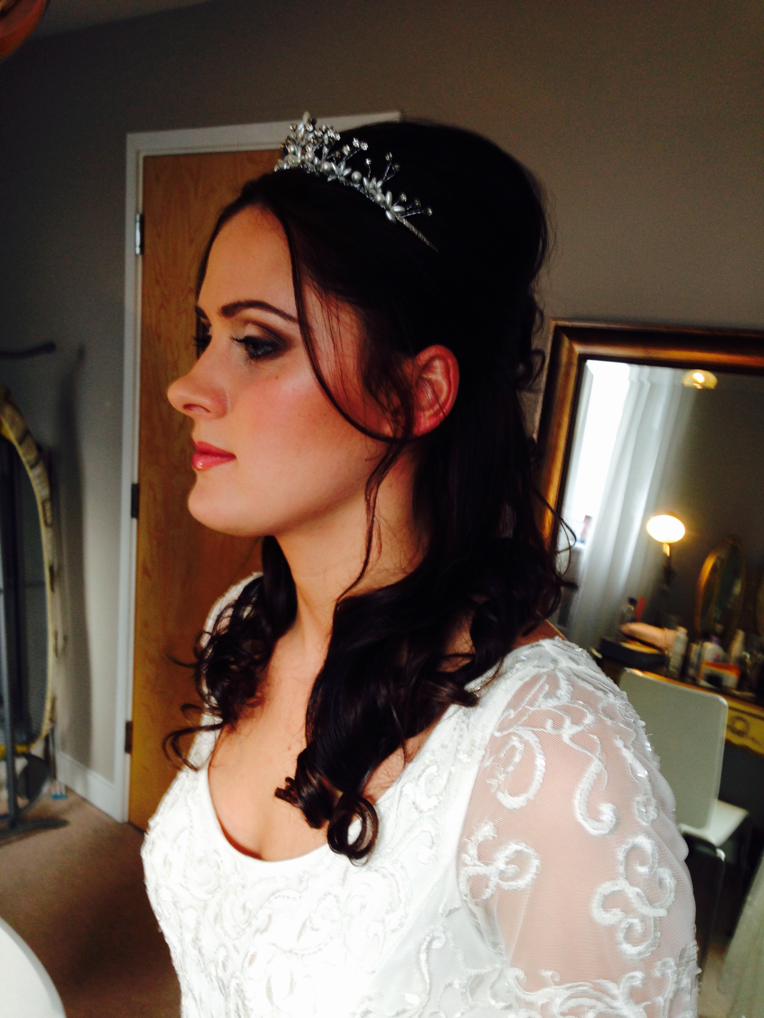 Victoria's wedding makeup by Claire Wallace