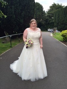 Lovely bride Emma, Hair & make up by Holly, Sept 2015