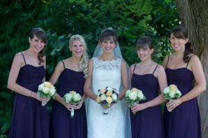Happy bride and bridesmaids . immage courtesy of gregallenphoto.com