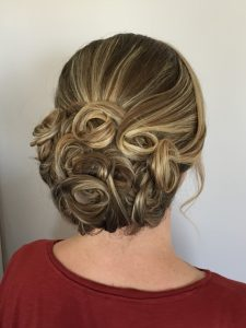 curly up do for wedding trial