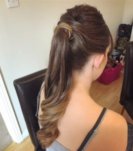 photo of back of hair style long pale brown
