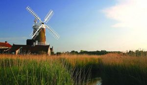 Photo of Cley windmill and surrounding area