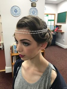 Photo of a vintage inspired look on a model