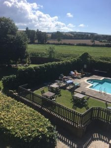 View of the pool and surrounding countryside