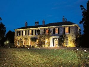 hoto of Caistor Hall at twighlight