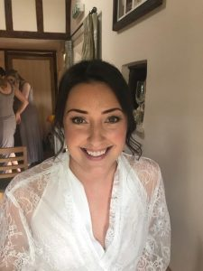 photo of bride smiling