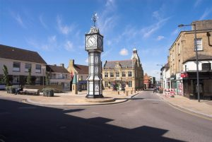 Downham Market Clocktower and Street Scene - photo by Dennis Smith