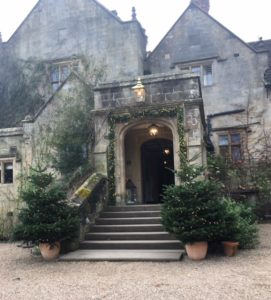 Photo of Gravetye Manor with Christmas Trees